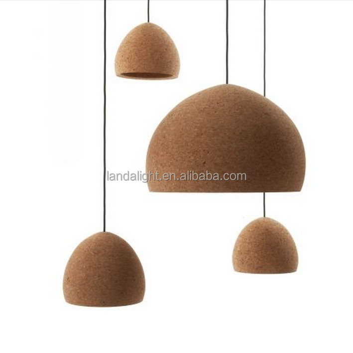 Hot new products for 2016 sage cork hanging pendant lamp Zhongshan Guzhen lighting residential lights