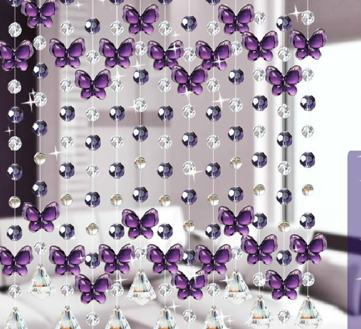 Guarni o de cortina de contas de cristal cortinas de for Cortinas decorativas para puertas