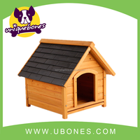 Retail! durable wooden dog house with balcony made with fir wood dog house pet carrier