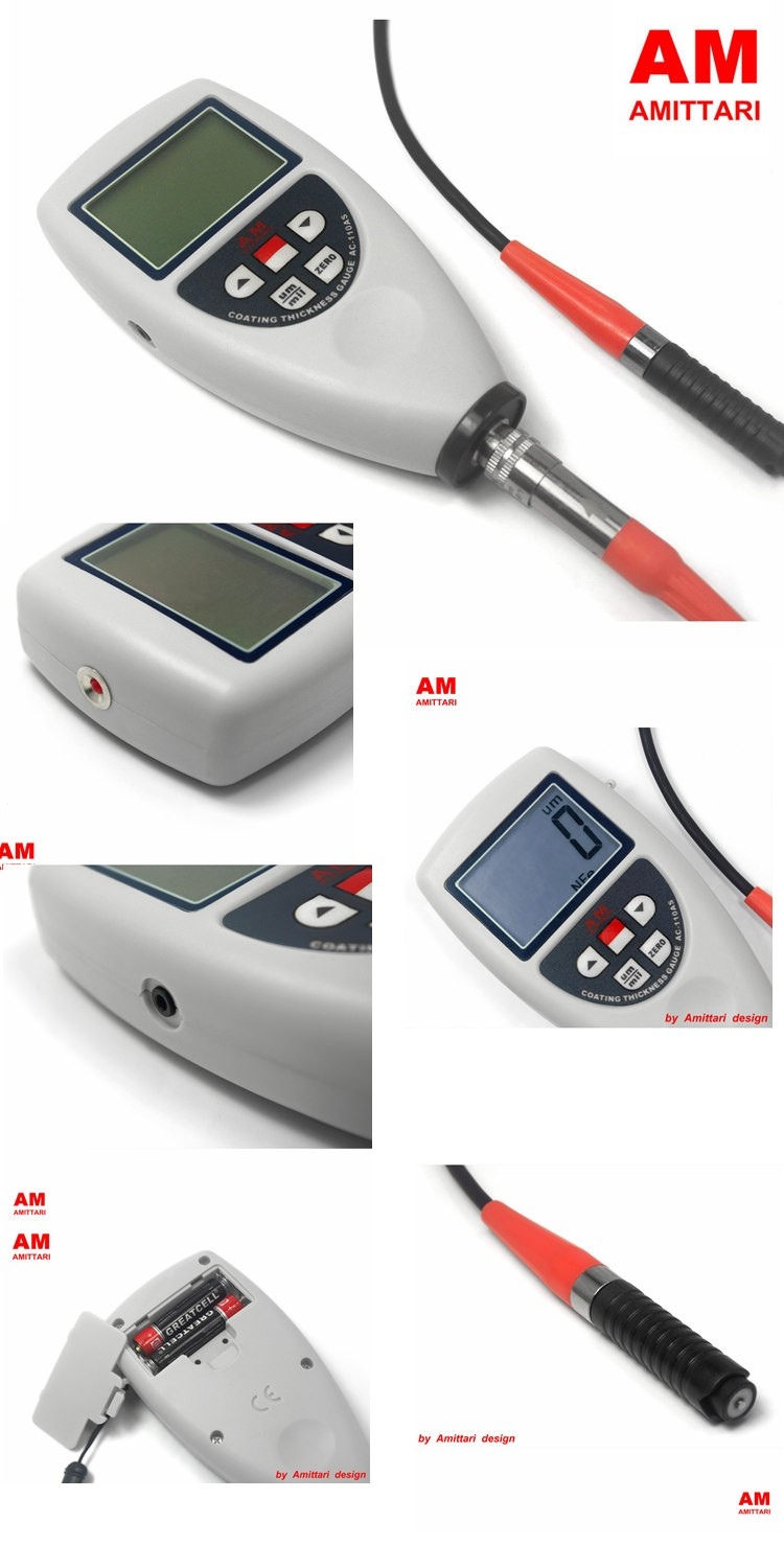 Portable Thickness gauge for plastic film Magnetic measuring instruments
