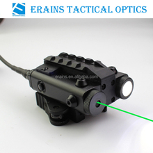 New Military Standard Compact Square Design Tactical ES-FX103-LG green laser sight with led flashlight Combo (FDA certified)