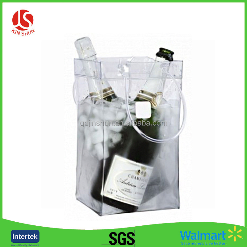 Large Size Customized Plastic Clear Wine Ice Bag