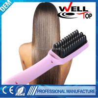 Travel using mini ceramic travel hair straightener salon product
