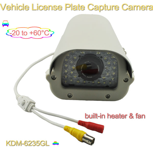 Hot sale !! high definition 700tvl 40m ir car license plate capture camera with heater, for car license plate capture