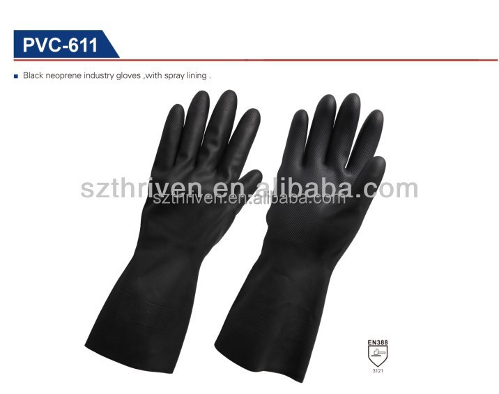 black bakery gloves