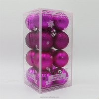 16pcs packing chrismas balls holiday decoration assorted design