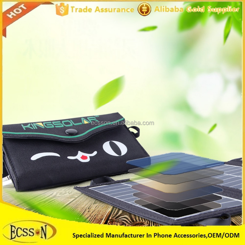 2017 Hot sale phone solar charger, folding solar purse charger bag for mobile