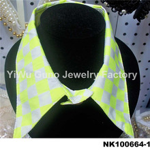 Fashion jewelry wholesale Yellow Fake collar necklace fake collar shirt