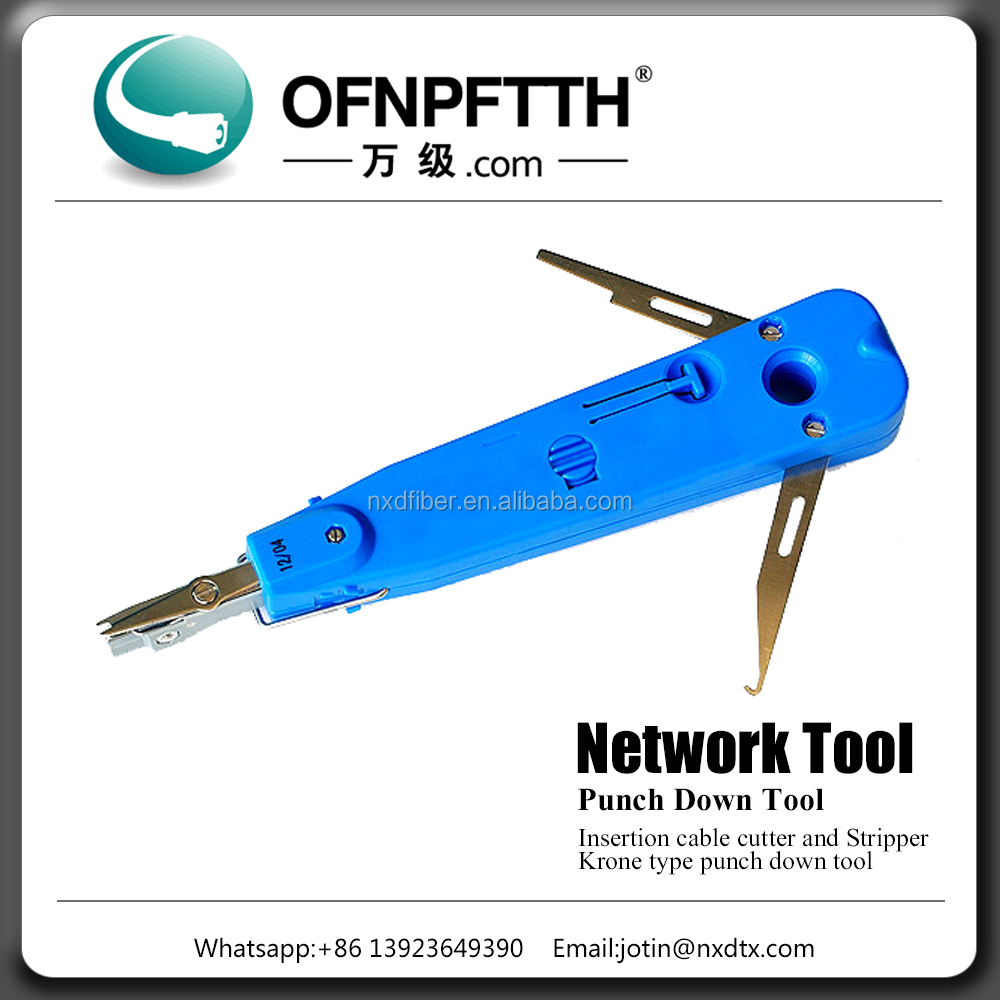Network Insertion cable cutter and stripper krone type punch down tool