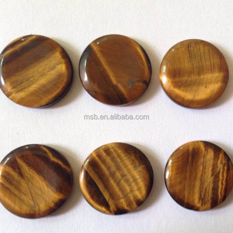 round flat tiger eye plates for jewelry inlay