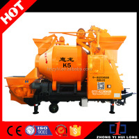 Small Trailer Electric Motor Cement Mixer / Concrete Mixing Pump