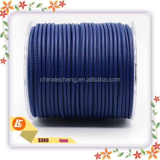 3mm Nappa Round Stitched Leather Cord