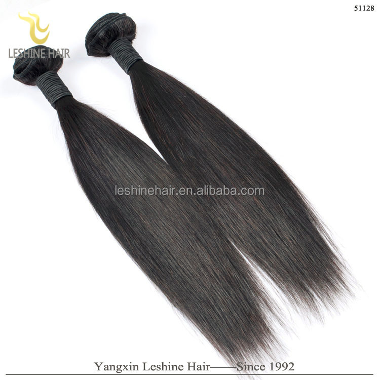 Factory Price Wholesale 100% Natural Color Hair Weft Jet Black Brazilian Hair