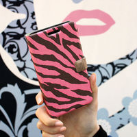 Zebra Stripe Purple_Happymori Design Flip Phone Cover Case for Apple iPhone 6 (Made in Korea)
