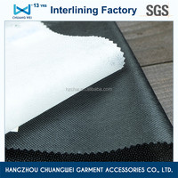 qualified polyester fusible interfacing, nonwoven garment fusible interlining fabric(3025) with SGS