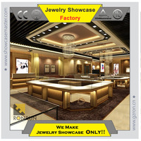 Graceful shop counter design Top quality jewelry display case
