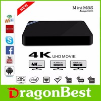 Super quality new 4K tv box Android 5.1 amlogic S905 Quad Core 4k mini m8s 2g+8g rush in the world