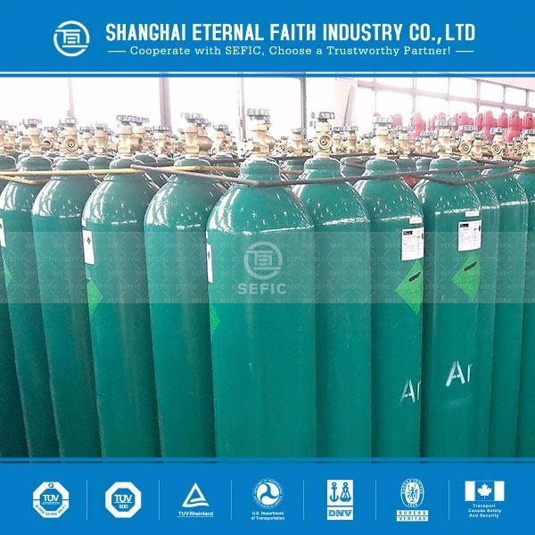 exported to Australia ISO9809-3 DOT 3AA argon gas cylinder