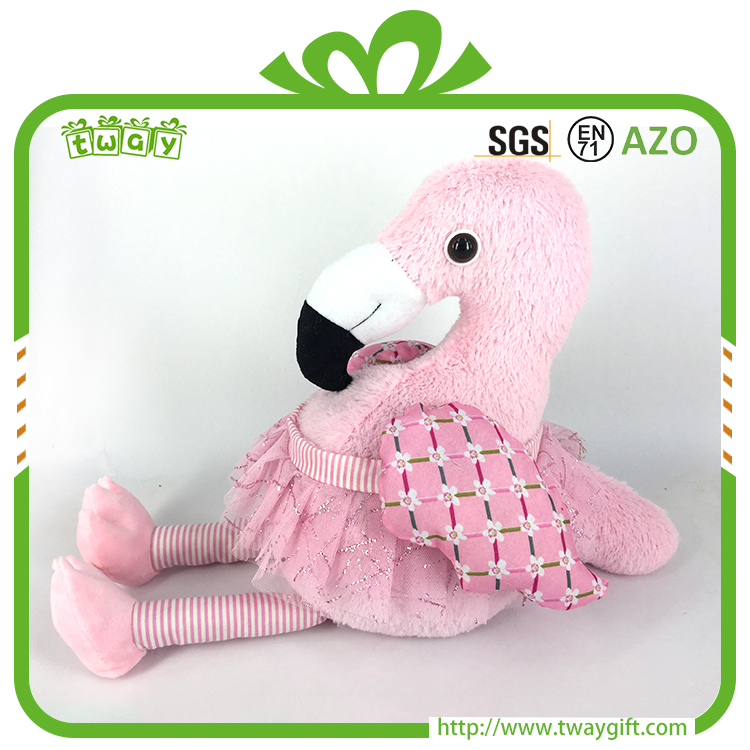 Hot design 20 inch flamingo baby doll plush toy manufacturer home decor