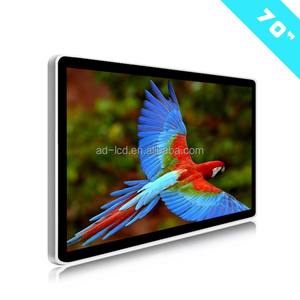 70 inch TV 4k wall display digital signage advertising screens advertising indoor lcd monitor android