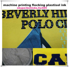 textile special effect printing materials plastisol ink flocking paste for electrostatic flocking machine