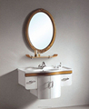 2017 Solid Wood Single Basin Cabinet Vanity Set with Mirror