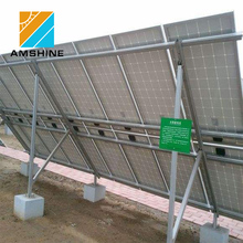 Flexible mounting brackets ground solar pv panel support