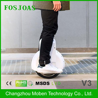 changzhou factory Fosjoas V3 wholesale mobility two wheels electric unicycle for adults with TUV CE