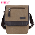 Vivisecret eco-friendly messenger bag custom cotton canvas travel teen shoulder bag for men