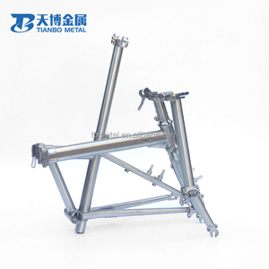 Hot sales with high qutily of Gr9 titanium mountain 20 inch folding bike frame with fork
