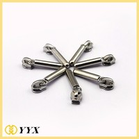 Long Solid Tube Silver Zipper Slider and Puller