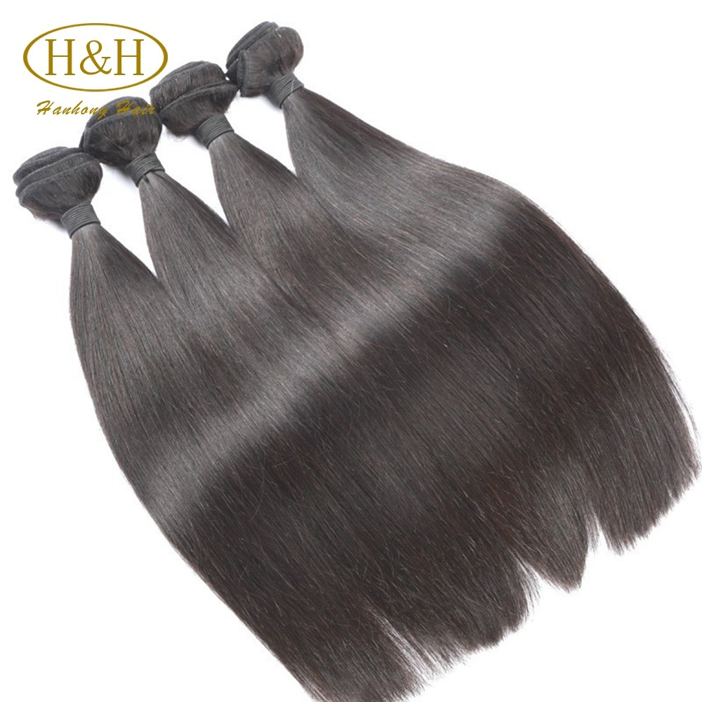 Top quality human hair weft 24inch virgin remy brazilian hair double drawn hair