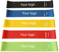 Premium High Quality Exercise Resistance Loop Bands Set of 5 for Yoga, Pilates, and Strength Training