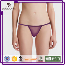 Hot Sale Graceful Purple Transparent Sexy Elastic Sex G-String