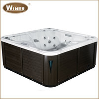 2016 Hot Sale Acrylic Balboa freestanding sex hot tub outdoor massage whirlpool spa
