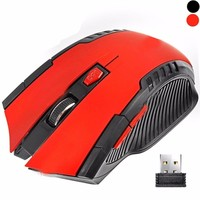 Blue Waving Red Color Weighted 6D Wireless Gaming Mouse