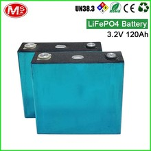 High quality rechargeable Lithium battery for energy storage system 3.2V 120Ah