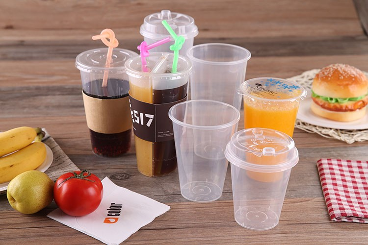 best selling products custom 700ml 24oz disposable PET plastic cup for juice