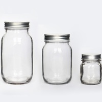 Customized glass mason jars for liquid jam food packing with FDA grade