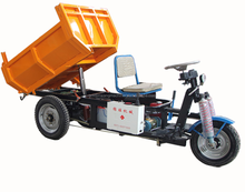 Motorized driving type three wheel electric tricycle for cargo with hydraulic lifter