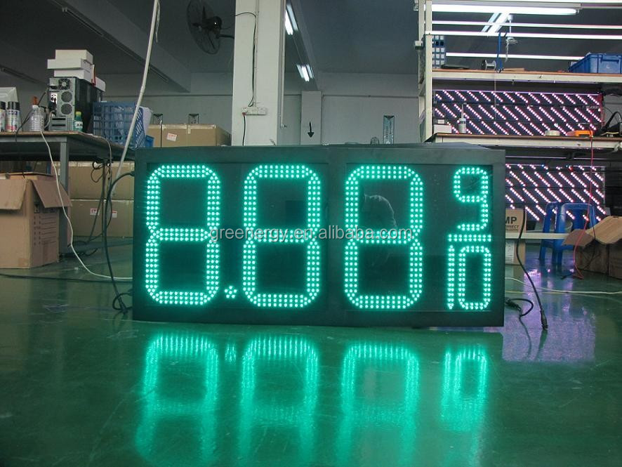 Nice performance 12 inches fuel station led digital gas price sign 8.889/10