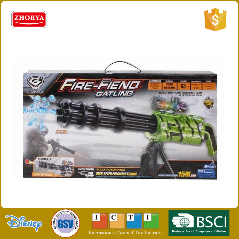 High simulation B/O 2 colours Gatling gun toys water bullet gun soft bullet gun toys