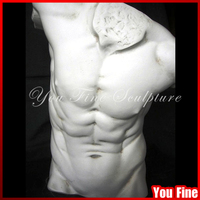 Pure Hand Carved Marble Famous Bust Sculpture