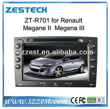 double din +touch screen car stereo for Renault Megane 2/Megena III ZT-R701 car dvd gps car stereo radio player with rear camera