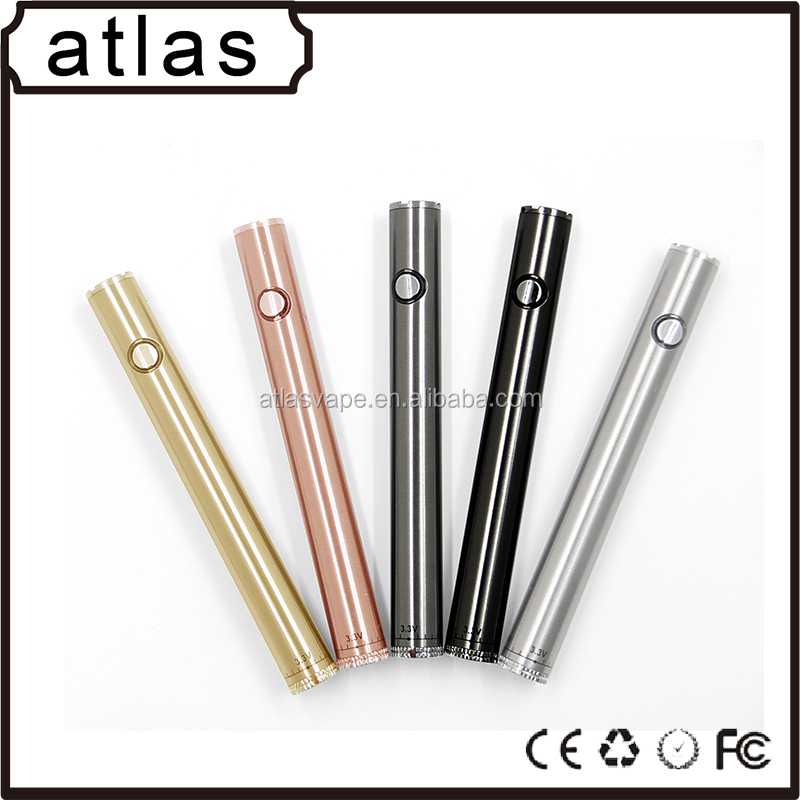 Best quality 510 thread custom logo e cigarette battery slim vape pen 310mah vape battery cbd oil