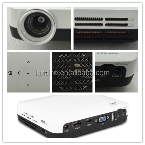 Super bright !!! Z2 1080p Mini portable DLP 3D projector with 2 HDMI&USB&5.1 Dolby Surround Speaker