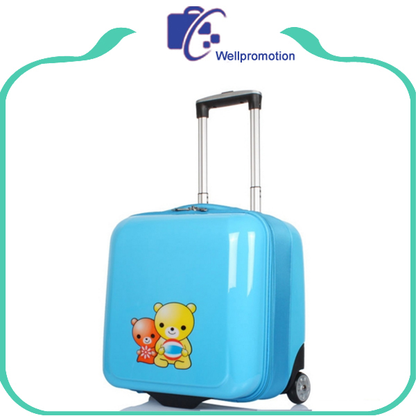 Personalized small kids travel rolling suitcase pilot case/bag