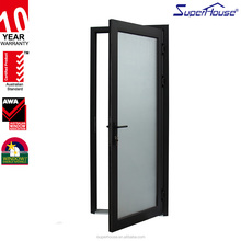 Amercian standard Soundproof Commercial Aluminium frame Single hinge External doors With 10 Years warranty
