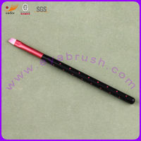 Angled Three Color Synthetic Hair Wood Handle Cosmetic Eye Shadow Brush