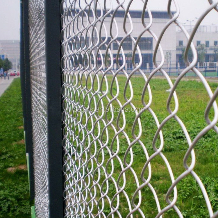 PVC coated Galvanized Diamond chain link wire mesh fence